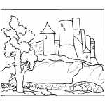Medieval Castle Coloring Sheet