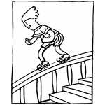Roller Skating On Stairs