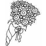 Flowers Bouquet Coloring Sheet