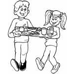 Kids With Breakfast Tray