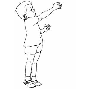 Boy With Blocks Coloring Sheet