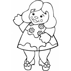 Dancing Doll Coloring Sheet