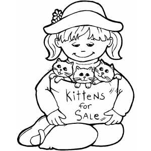 Kittens For Sale Coloring Sheet