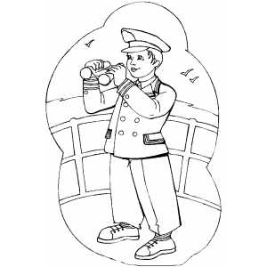 Sailor Coloring Sheet