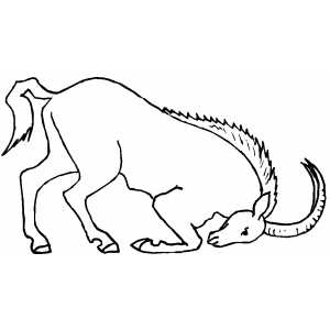 Angry Ibex Coloring Sheet