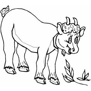 Goat Kid Coloring Sheet