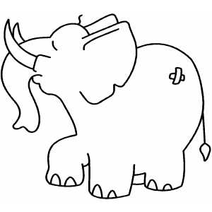 Proud Elephant Coloring Sheet