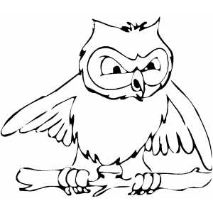 Angry Owl Coloring Sheet