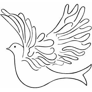 Flying Dove Coloring Sheet