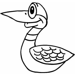 Happy Duckling Coloring Sheet