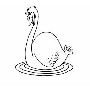 Smiling Goose Coloring Sheet