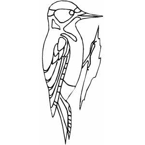 Woodpecker Coloring Sheet