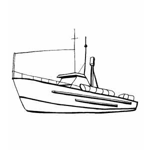 Cargo Ship Coloring Sheet