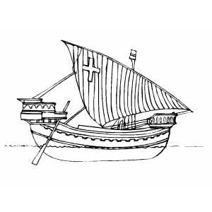 Christian Old Ship Coloring Sheet