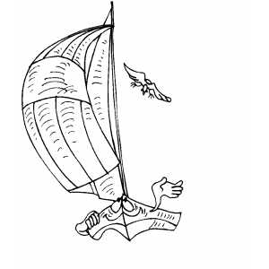 Happy Sailboat Coloring Sheet