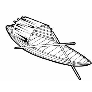 Row Boat Coloring Sheet