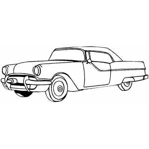 Classic Two Doors Sport Car Coloring Sheet