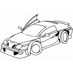 Lamborghini Diablo Sport Car Coloring Sheet