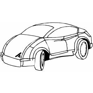 Modern Sport Car Coloring Sheet