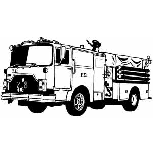 Moving Fire Truck Coloring Sheet