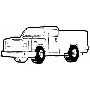 Pickup Coloring Sheet