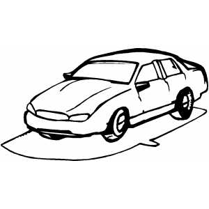 Sedan Profile Coloring Sheet