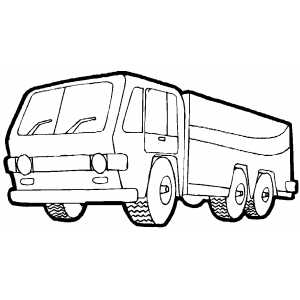 Six Wheels Cargo Truck Coloring Sheet