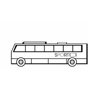 Sport Bus Coloring Sheet