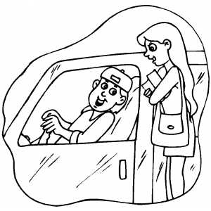 Student Driver Coloring Sheet