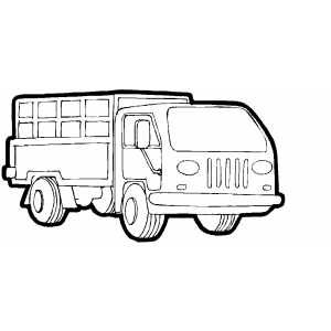 Truck With Cargo Coloring Sheet