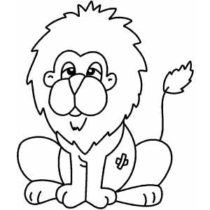 Calm Lion Coloring Sheet