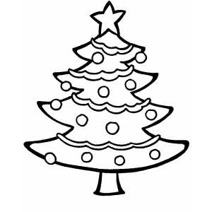 Decorated Tree Coloring Sheet