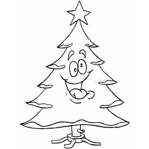 Nutty Tree Coloring Sheet