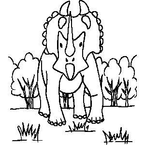 Tricerotops Coloring Sheet