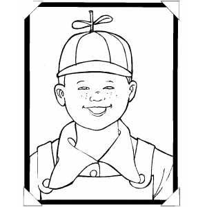 Smiling Boy Coloring Sheet