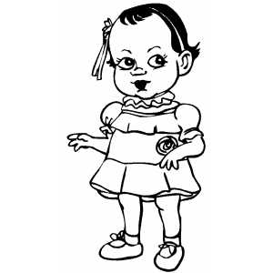 Smiling Girl Coloring Sheet