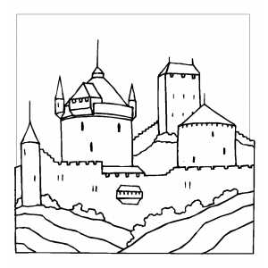 Well Protected Castle Coloring Sheet