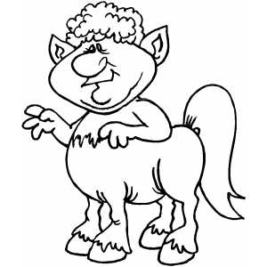 Fat Centaur Coloring Sheet