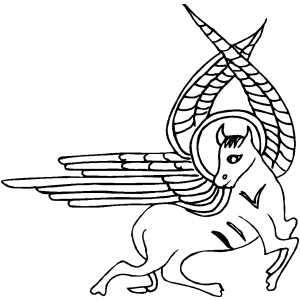 Flying Horse Coloring Sheet