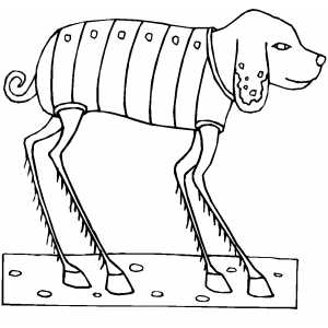 Insect Dog Coloring Sheet