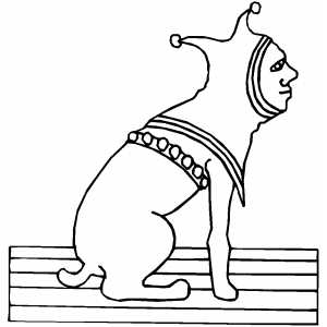 Jester Dog Coloring Sheet