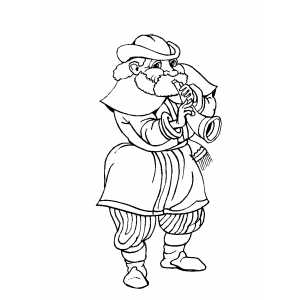Musician With Flute Coloring Sheet