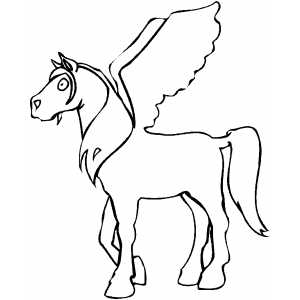 Pegasus Coloring Sheet
