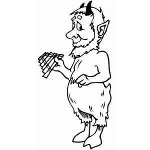 Satyr Coloring Sheet