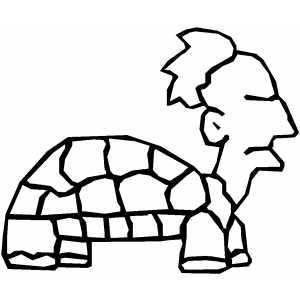 Turtle Man Coloring Sheet