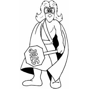 Cosmic Crossing Guard Coloring Sheet