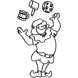 Juggler Coloring Sheet