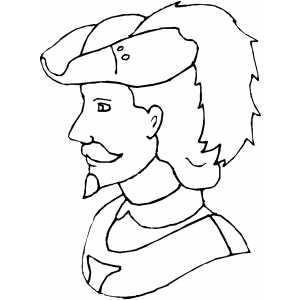 Musketeer Coloring Sheet