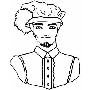 Noble Face Coloring Sheet