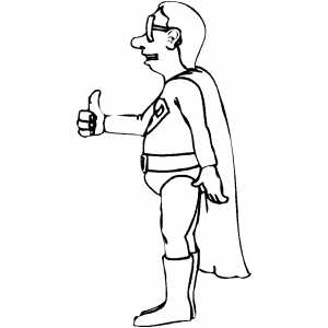 Superhero Thumbs Up Coloring Sheet